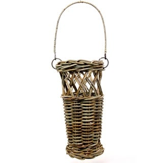 Sage & Co Tan Rattan Bucket Basket (Set of 2)