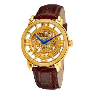 Stuhrling Original Men's Windchester Grand Automatic Leather Strap Watch
