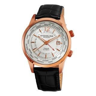 Stuhrling Original Men's Explorer Automatic Leather Strap Watch