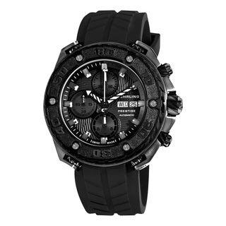 Stuhrling Original Men's Maverick Prestige Automatic Rubber Strap Watch