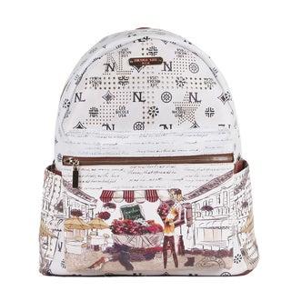 Nicole Lee Garden Flower Print Quinn 20-inch Fashion Backpack
