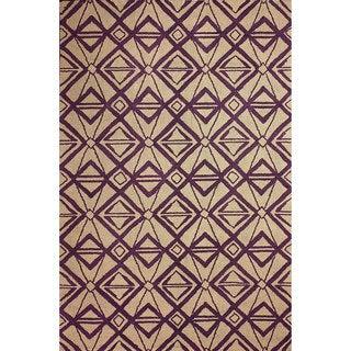 nuLOOM Hand-hooked Indoor/ Outdoor Purple Rug (8' 6 x 11' 6)