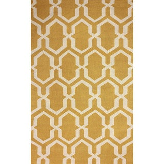 nuLOOM Hand-hooked Trellis Gold Rug (8' 6 x 11' 6)