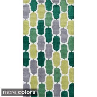 nuLOOM Hand-tufted Green Rug (8' 6 x 11' 6)