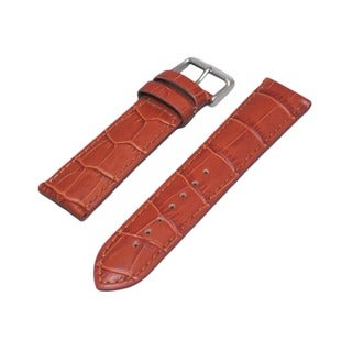 Hadley Roma Alligator Grain Tan Genuine Leather Watch Strap