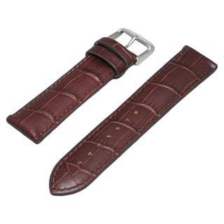 Hadley Roma Alligator Grain Brown Genuine Leather Watch Strap