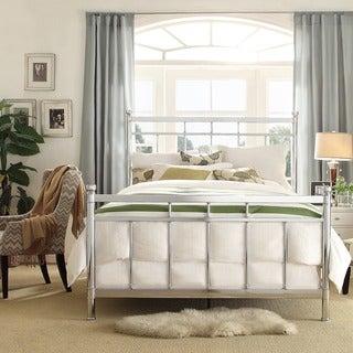INSPIRE Q Bella Contemporary Silver Queen/Full Chrome Bed