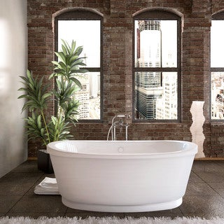 Mountain Home Camet 36 x 66 Acrylic Soaking Freestanding Bathtub