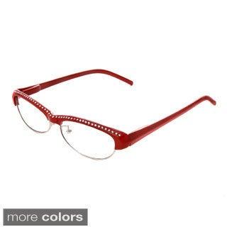Hot Optix Women's Combo Frame Reading Glasses with Rhinestones