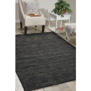 Waverly Grand Suite by Nourison Charcoal Wool Area Rug (8' x 10'6)