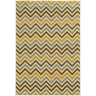 Indoor/ Outdoor Chevron Rug (1'9 x 3'9)