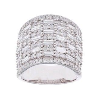18k White Gold 4ct TDW Pave Multi-stone Diamond Ring (G-H, SI2-I1)
