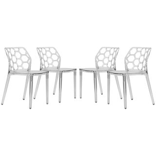 Somette Cove Transparent Black Acrylic Modern Dining Chair (Set of 4)
