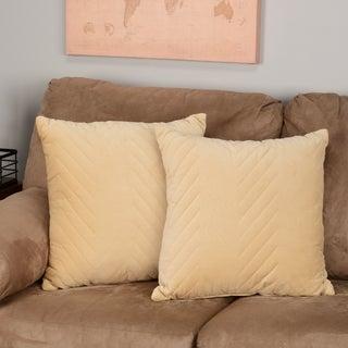 Madison Park Cotton Velvet Decorative Accent Pillows (Set of 2) - Multiple Sizes