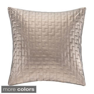 Madison Park Quilted Metallic Faux Leather Decorative Throw Pillow - Multiple Options