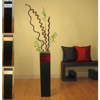 Tapered 28-inch Black Vase and Branches
