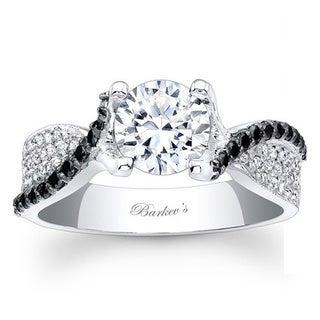 Barkev's Designer 14k White Gold 1 1/8ct TDW Black/ White Diamond Ring (F-G, SI1-SI2)