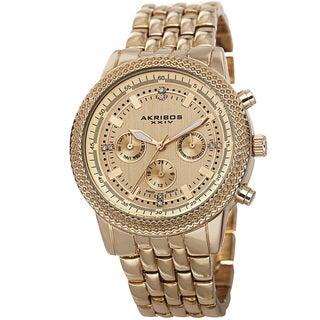 Akribos XXIV Women's Swiss Quartz Multifunction Stainless Steel Bracelet Watch