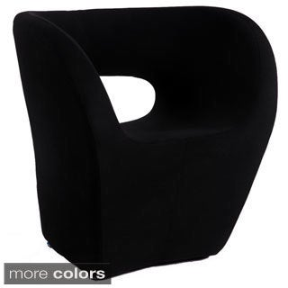 Somette Faux Cashmere Stationary Modern Bucket-seat Arm Chair