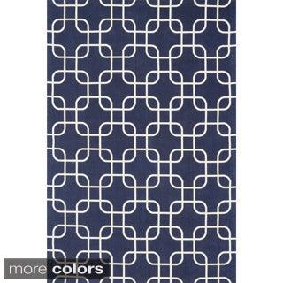 Flatweave Ledbury Retro Cotton Rug (7'6 x 9'6)
