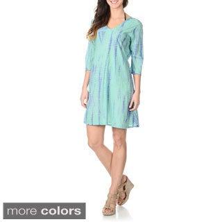 La Cera Women's Tie-Dye Tunic Swim Cover-up
