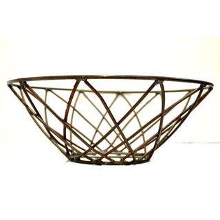 Hand-woven Decorative Iron Basket (India)