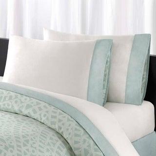 Echo Design Mykonos All Cotton Sheet Set with Pieced Cuff