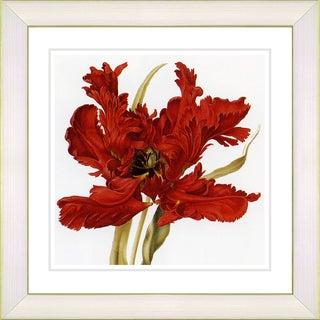 Zhee Singer 'Vintage Botanical No 021 - White' Framed Fine Art Print