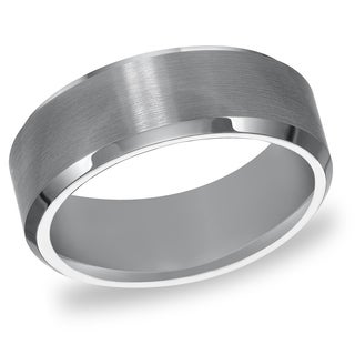 Cambridge Tungsten Carbide Beveled Edge Comfort Fit 8mm Wedding Band