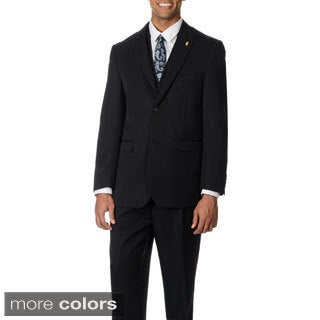 Falcone Men's Single Breasted 3-piece Vested Suit