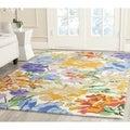 Isaac Mizrahi by Safavieh Painterly Floral Multi Wool Rug (5' x 8')