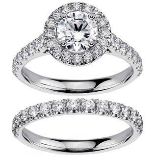 14k White Gold 2 1/2ct TDW Diamond Engagement Ring Bridal Set (F-G, SI1-SI2)