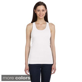 Bella Women's Ribbed Racerback Longer-length Tank