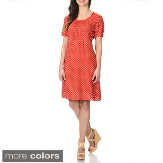 La Cera Women's Polka Dot Print Dress