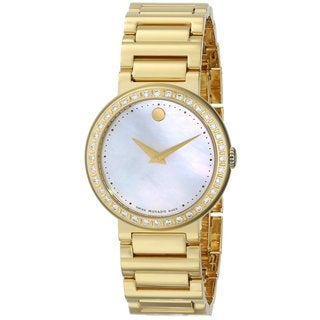 Movado Women's 'Concerto' Gold Plated Stainless Steel Watch