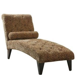 Leopard Print Chaise Lounge Chair