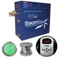 SteamSpa Indulgence 7.5kw Steam Generator Package in Chrome