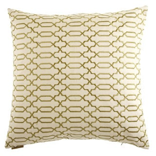 Lattice Decorative Feather Filled 24-inch Throw Pillow