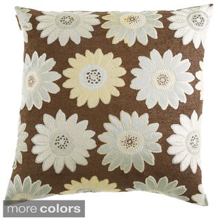 Daisy May Decorative Feather Filled Throw Pillow
