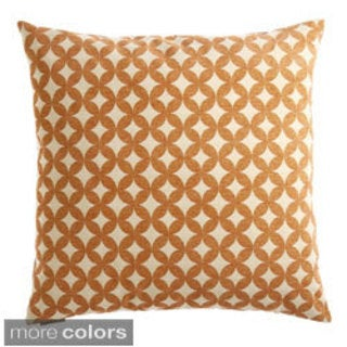 24-inch Volt Geometric Feather Filled Throw Pillow