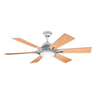 Contemporary Satin Aluminum Ceiling Fan and Light Kit