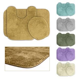 Somette Cheltenham Washable 3-piece Bath Rug Set