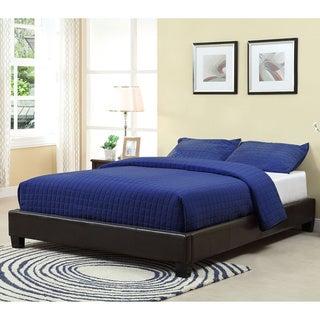 Basic Chocolate Upholstered Platform Bed