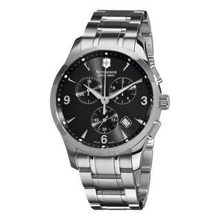 Swiss Army Men's 241478 'Alliance' Black Dial Stainless Steel Bracelet Quartz Watch