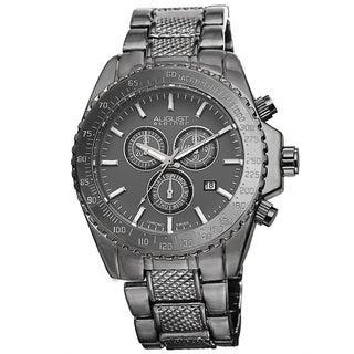 August Steiner Men's Tachymeter Swiss Quartz Chronograph Bracelet Watch