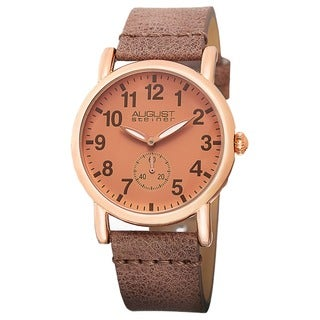 August Steiner Women's Swiss Quartz Genuine Leather Strap Watch