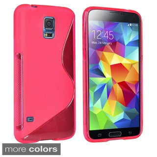 INSTEN Colors S Shape TPU Rubber Skin Cover Phone Case Cover for Samsung Galaxy S5/ SV