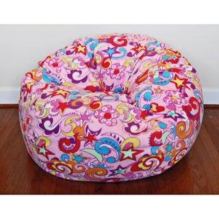Anti-Pill Retro Fun Fleece 36-inch Washable Bean Bag Chair