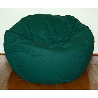 Dark Green Cotton Twill 36-inch Washable Bean Bag Chair