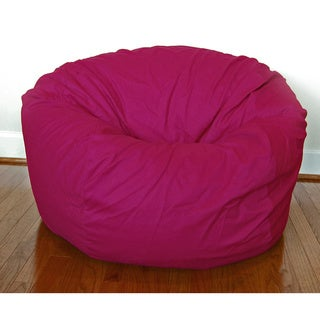 Magenta Cotton Twill 36-inch Washable Bean Bag Chair